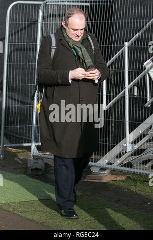 London, UK. 29th Jan, 2019. Ed Davey Liberal Democrat MP for Kingston and Surbition interviewed by the Media at College Green as members of Parliament debate and vote on several Brexit amendments Credit: amer ghazzal/Alamy Live News - Stock Photo