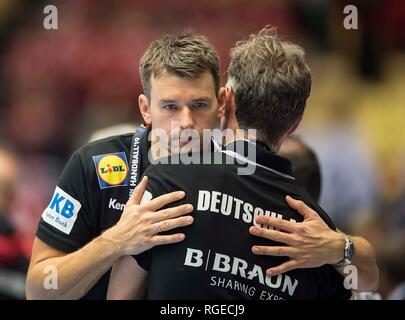 coach Christian PROKOP (GER) disappointed after the match, match for 3rd place, Germany (GER) - France (FRA), on 27.01.2019 in Herning/Denmark Handball World Cup 2019, from 10.01. - 27.01.2019 in Germany/Denmark. | usage worldwide - Stock Photo