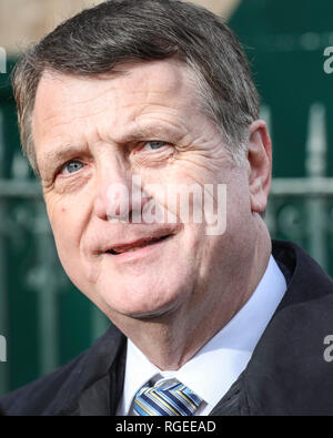 Westminster, London, UK, 29th Jan 2019. Gerard Batten, leader of the UK Independence Party (UKIP) in Westminster today. Credit: Imageplotter News and Sports/Alamy Live News - Stock Photo