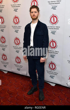 London, UK. 29th Jan 2019. Kyle Soller at The Critics' Circle Theatre Awards annual ceremony which celebrates the achievements of 2018's theatre productions, at Prince of Wales Theatre Credit: Nils Jorgensen/Alamy Live News - Stock Photo