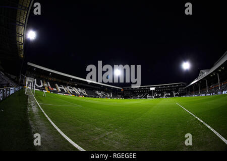 Craven Cottage, London, UK. 29th Jan, 2019. EPL Premier League football, Fulham versus Brighton and Hove Albion; General view of inside Craven Cottage before kick off Credit: Action Plus Sports/Alamy Live News - Stock Photo