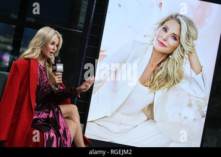 New York, USA. 29 Jan, 2019. Christie Brinkley at The Tuesday, Jan 29, 2019 BUILD Series Inside Candids discussing 'Milestones of Me' Campaign at BUILD Studio in New York, USA. Credit: Steve Mack/S.D. Mack Pictures/Alamy Live News