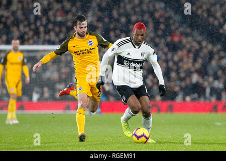 London, UK. 29th January, 2019. Ryan Babel of Fulham during the Premier League match between Fulham and Brighton and Hove Albion at Craven Cottage, London, England on 29 January 2019. Photo by Carlton Myrie.  Editorial use only, license required for commercial use. No use in betting, games or a single club/league/player publications. Credit: UK Sports Pics Ltd/Alamy Live News - Stock Photo