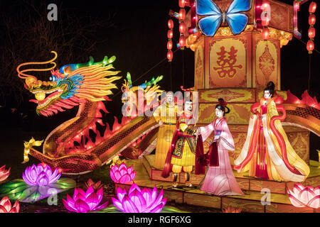 Antwerp Zoo China Light Festival - Stock Photo