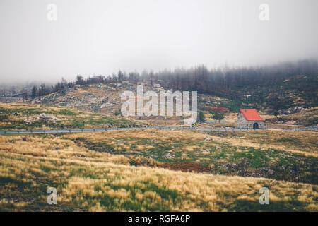 Fog in Serra da Estrela - Stock Photo