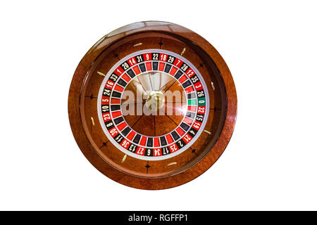 game table roulette from elite casino isolated on white background - Stock Photo