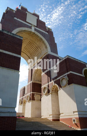Thiepval Memorial to the Missing of the Somme in WW1 designed by Sir Edwin Lutyens - Stock Photo