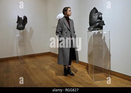 NICOLE FARHI , FEMALE FORM AT BEAUX ARTS , LONDON 31 January - 2 March 2019 - Stock Photo