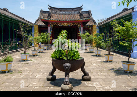 Phuc Kien Fukienchinese Congregation Assembly Hall Of Fujian Chinese in old town Hoi An, Vietnam - Stock Photo