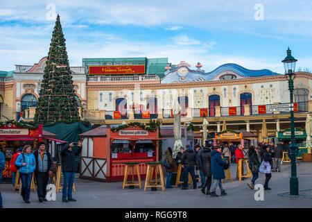 Madame Tussauds waxworks museum at the Prater amusement park in Vienna Austria - Stock Photo