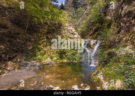 All Saints Waterfalls, town Oppenau, Northern Black Forest, Germany, lower section of the falls - Stock Photo