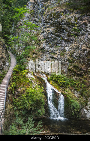 All Saints Waterfalls, town Oppenau, Northern Black Forest, Germany, trail through the gorge - Stock Photo