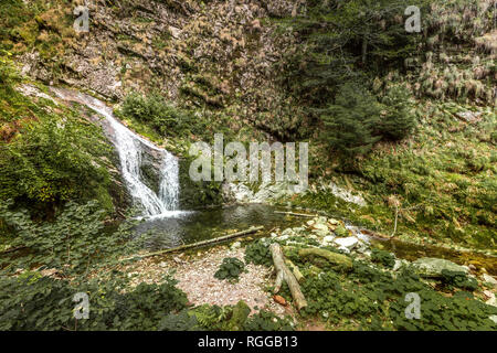All Saints Waterfalls, town Oppenau, Northern Black Forest, Germany - Stock Photo