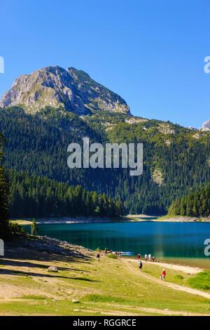 Black Lake, Crno jezero, Durmitor National Park, Zabljak Province, Montenegro - Stock Photo