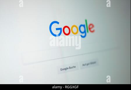 Google, Homepage, Search Engine, Internet, Screenshot, Germany - Stock Photo