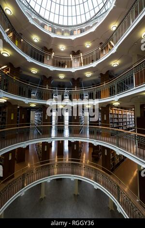 Interior, Finnish National Library, Kansalliskirjasto, Helsinki, Finland - Stock Photo