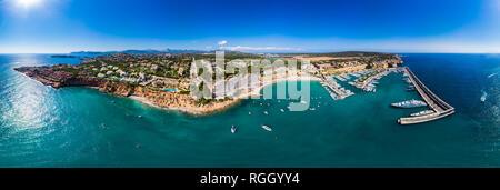 Spain, Balearic Islands, Mallorca, El Toro, Port Adriano - Stock Photo