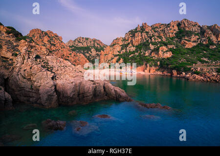 Most beautiful island in Europe. Clearest water in the Mediterranean Sea. Costa Paradiso. - Stock Photo