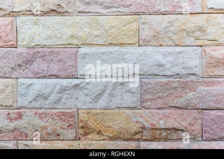 stone Cladding wall - Stock Photo