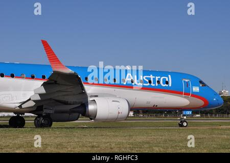 EMBRAER 190AR OF AUSTRAL LINEAS AEREAS - Stock Photo