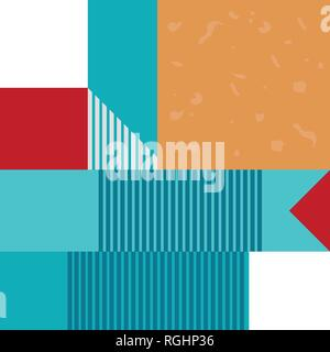 Abstract geometric seamless pattern or background. Poster, card, textile. - Stock Photo