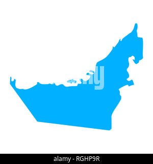 Map of United Arab Emirates - outline. Silhouette of United Arab Emirates map  illustration - Stock Photo