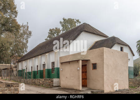 WUPPERTHAL, SOUTH AFRICA, AUGUST 27, 2018: The Town Hall in Wupperthal in the Cederberg Mountains of the Western Cape Province - Stock Photo