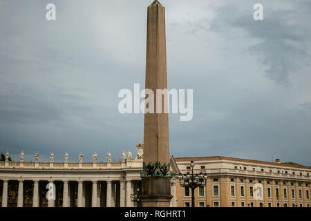 Vatican Obelisk in St. Peter's Square, Italy - Stock Photo