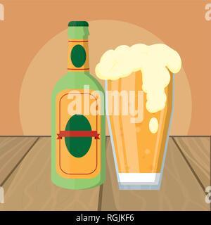 alcoholic drink cartoon - Stock Photo