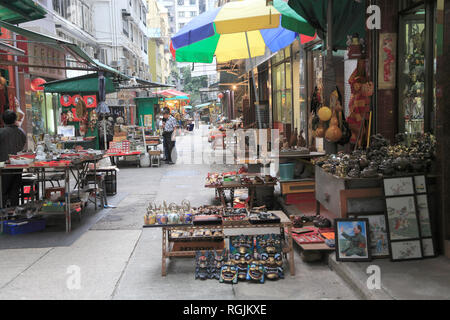 Cat Street Antiques Market, Upper Lascar Row, Sheung Wan, Hong Kong Island, Hong Kong, China, Asia - Stock Photo
