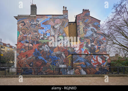 cable street mural london - Stock Photo