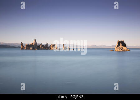USA, California, Lee Vining, South Tufa Area, Mono Lake, rock formations in the evening - Stock Photo