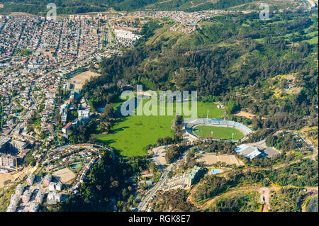 Estadio Sausalito, Aerial View, Viña del Mar Chile Stock Photo