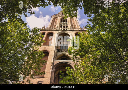 cathedral_utrecht_low angle shot by jziprian - Stock Photo