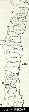 . Bulletin of the British Ornithologists' Club. Birds. ARGENTINA. ARGENTINA 100 200 miles 400 kilometers Figure 1. Map of northern Chile showing WFVZ collecting localities (numbers match those given site descriptions in the text). few weeks old. A fresh C/2 was collected (WFVZ 129,145), the eggs measuring 40.0x31.9 mm and 42.35 x 33.6 mm, with whole weights of 22.0 and 26.0 g respectively. The eggs were elliptical and subelliptical in shape and pale bluish-green in colour. CINEREOUS HARRIER Circus cinereus Although Johnson (1972) implied that this species occurs in Chile north to Arica, there  - Stock Photo