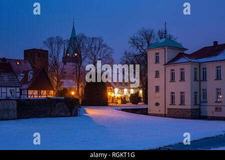 Germany, North Rhine-Westphalia, D-Herten-Westerholt, Old Village Westerholt, Alte Freiheit Westerholt, castle chapel Saint Martinus, Saint Martinus - Stock Photo