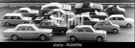 fiat cars, 1960-1970 - Stock Photo