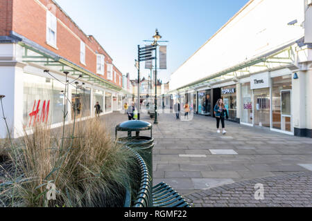 Salisbury, Wiltshire, UK. 30th January 2019. The streets of Salisbury are quieter than normal as the aftermath of the Novichok attacks affects visitor numbers. Credit: Thomas Faull/Alamy Live News - Stock Photo