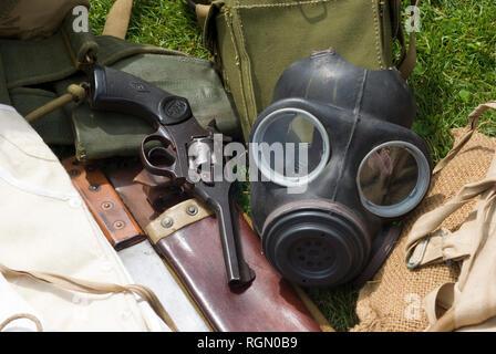 British WWII Equipment - Stock Photo