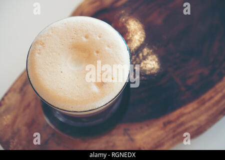 nitro cold brew coffee in cafe - Stock Photo