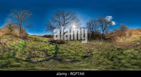 Views of the Surrey Hills from Newlands Corner on a sunny wintery afternoon. - Stock Photo