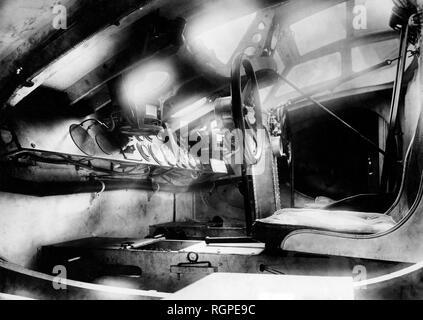 cockpit of the transatlaincic plane, 1933 - Stock Photo