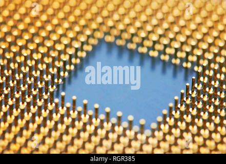 Computer processors CPU, closeup - Stock Photo