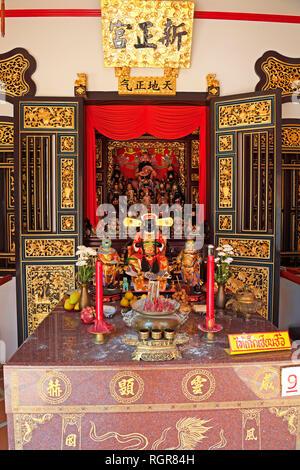 chinesicher Shrine of the Serene Light, Sangtham Shrine, Phuket, Thailand - Stock Photo