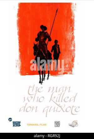 MOVIE POSTER THE MAN WHO KILLED DON QUIXOTE (2018) - Stock Photo