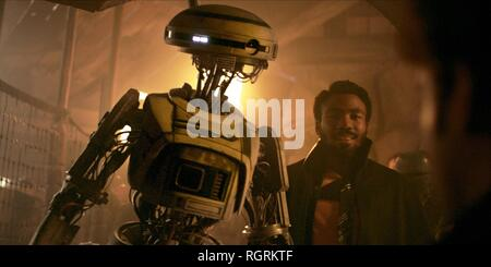 L3-37 & DONALD GLOVER SOLO: A STAR WARS STORY (2018) - Stock Photo