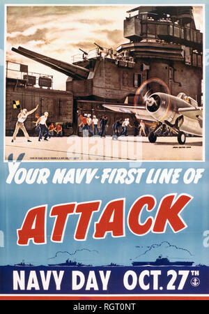 Navy Day poster, October 27, 1942.jpg - RGT0NT 1RGT0NT - Stock Photo