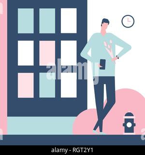 Dating app - flat design style colorful illustration
