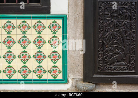 detail inside a cantonese Clan Associations in George Town, Penang, Malaysia - Stock Photo