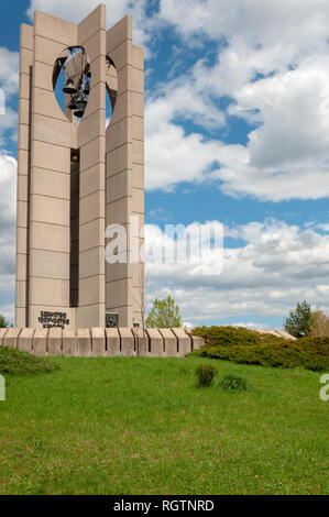 Sofia, Bulgaria. The Bells monument, built to celebrate the World Children initiative by UNESCO. The seven bells symbolise the seven continents. - Stock Photo